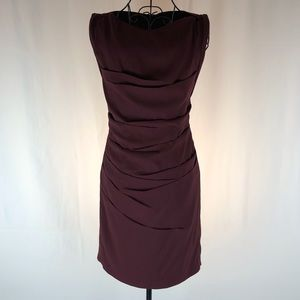 Express ruched knit dress exposed back zip 0